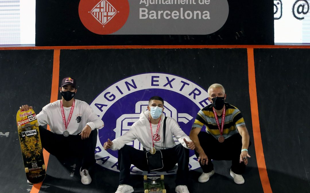 Bruno Senra and Charlotte Hym, take the gold on a skateboard from the imaginExtreme Barcelona 2020
